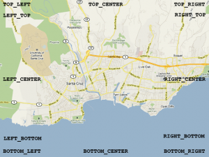موقعیت اشیاء در نقشه گوگل