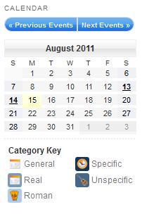 افزونه تقویم My calendar