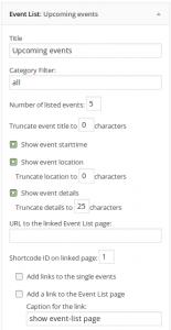 افزونه وردپرس Event list