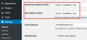 ثابت کردن URL سایت