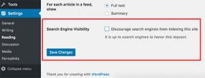 بررسی تنظیمات خواندن در سایت وردپرس