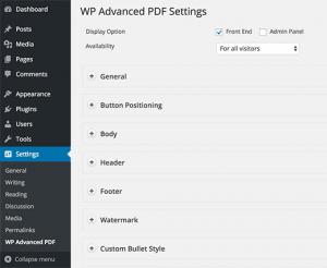 تنظیمات فایل PDF