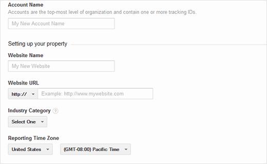 ارائه اطلاعات وب سایت در گوگل آنالیز