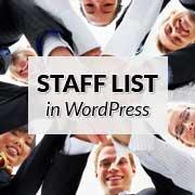 ایجاد یک لیست کارکنان ساده در وردپرس