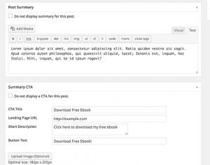 ایجاد و یا ویرایش یک پست وردپرس برای نمایش TLDR CTA