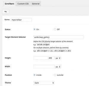 افزونه Custom Scrollbar در وردپرس