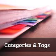 اضافه کردن دسته بندی ها و برچسب ها در وردپرس