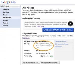 کلید API نقشه گوگل