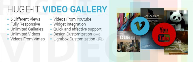 افزونه ویدیو گالری Huge-it WordPress Video Gallery