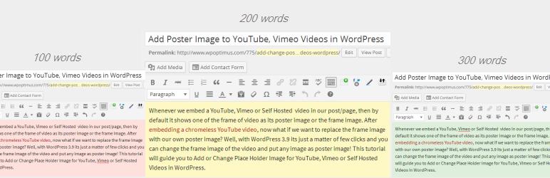 افزونه Editor Color on Word Count