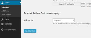 محدود کردن نویسنده در قالب ورد پرس