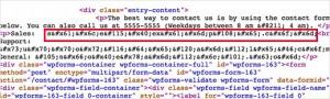 کدگزاری آدرس ایمیل در وردپرس