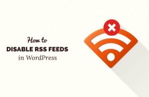 نحوه غیر فعال کردن RSS در طراحی قالب وردپرس