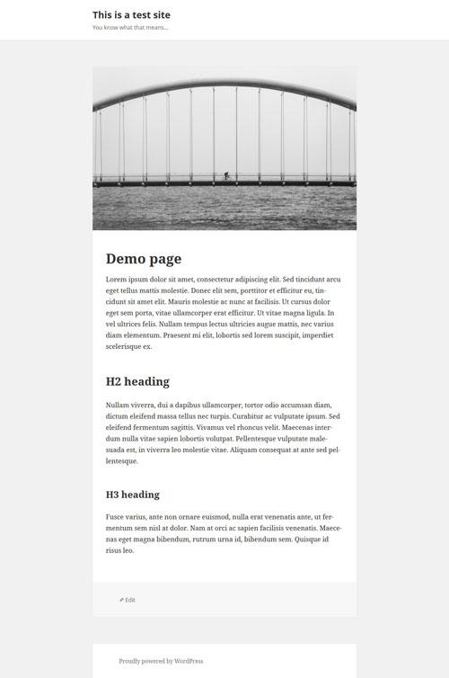 صفحه تمام عرص قالب فرزند در وردپرس