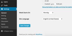 تغییر زبان در طراحی قالب وردپرس