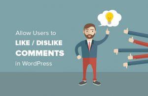 اجازه دادن به کاربران برای پسندیدن یا نپسندیدن نظرات در وردپرس