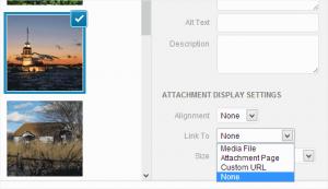 حذف پیش فرض لینک های تصویر در وردپرس