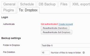 ذخیره پشتیبان گیری در Dropbox در وردپرس
