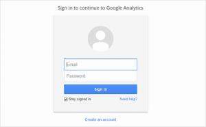 ثبت نام در Google Analytics