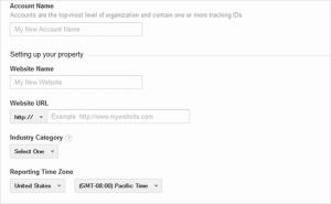 ثبت نام در Google Analytics مرحله 3ب