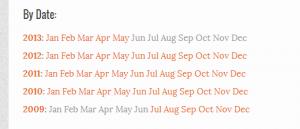 اضافه کردن آرشیو ماهانه در وردپرس