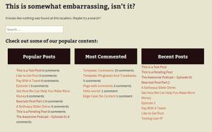 نمایش نهایی صفحه سفارشی خطای 404 در وردپرس