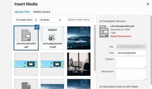آپلود یک فایل PDF در سایت وردپرس