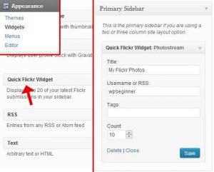 اضافه کردن یک ویجت فلیکر در وردپرس