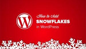 اضافه کردن Snowflakes (برف در حال سقوط) در وبلاگ وردپرس