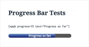اضافه کردن متن در یک نوار پیشرفت در وردپرس