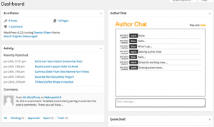 افزونه Author Chat در وردپرس