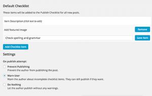 پلاگین Pre-Publish Post Checklist در وردپرس