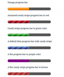 تغییر  رنگ و ظاهر نوار پیشرفت در وردپرس