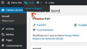 افزونه English WordPress Admin در وردپرس