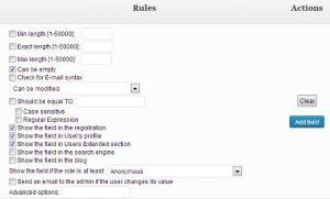 پیکربندی تنظیمات پلاگین Cimy User Extra Fields