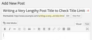 نحوه اضافه کردن حد مجاز برای عنوان پست در وردپرس