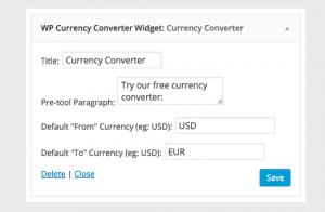 تنظیمات پلاگین تبدیل ارز در وردپرس