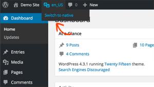 افزونه English WordPress Admin