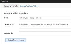 2. ضبط و آپلود فیلم ها یوتیوب از وردپرس