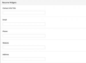 اضافه کردن اطلاعات تماس ویجت به رزومه خود در وردپرس