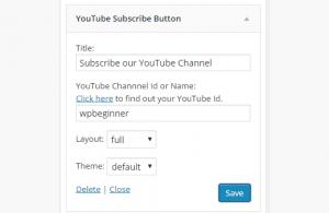 پلاگین YouTube Subscribe Button در وردپرس