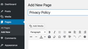 اضافه کردن حفظ حریم خصوصی در وردپرس