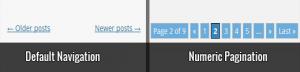 اضافه کردن عددی صفحه بندی در وردپرس