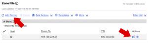 تنظیم DNS یک رکورد به نقطه Bit.ly در وردپرس