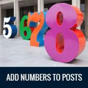 اضافه کردن اعداد به طور خودکار به پست های وردپرس