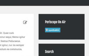 اضافه کردن پریسکوپ در دکمه هوا در پست وردپرس و یا صفحه