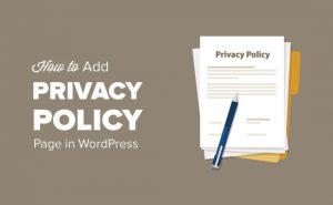 چگونگی اضافه کردن حفظ حریم خصوصی در وردپرس