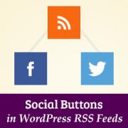 دکمه های اجتماعی در RSS وردپرس