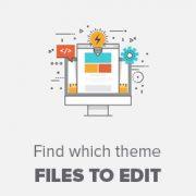 چگونه یافتن فایل ها برای ویرایش تم در وردپرس
